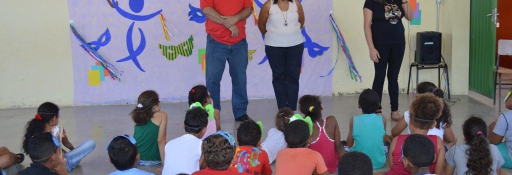 O Prefeito participa do Momento Cultural na Escola Municipal Gustavo Capanema.