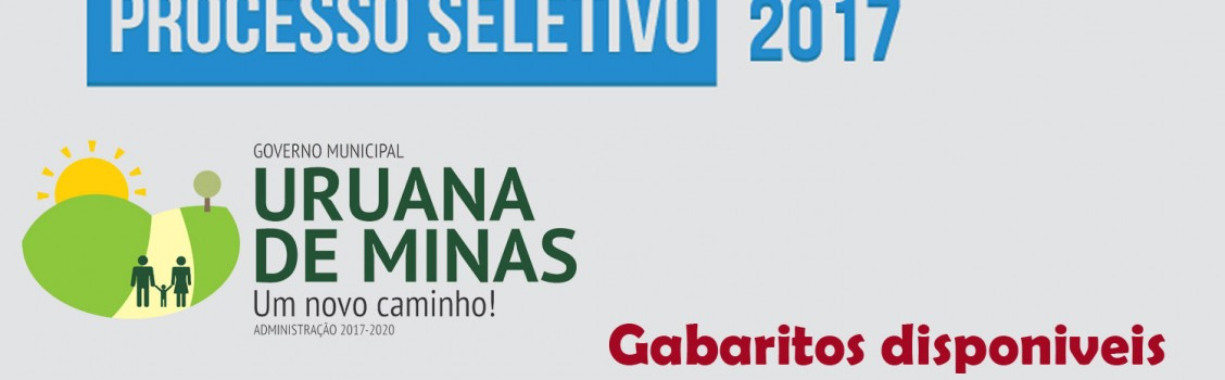 Gabaritos das Provas e Analise de Recursos do Processo Seletivo 2017.