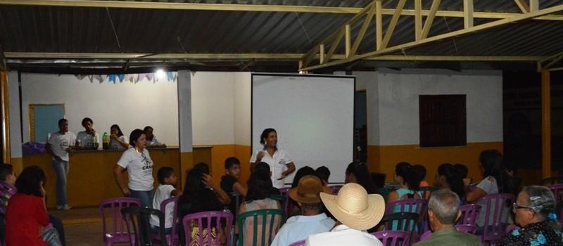Cinema na Praça no Distrito do Cercado.