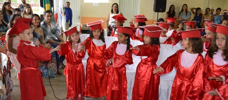 Secretaria de Educação realiza formatura da Educação Infantil da Escola Municipal Balão Mágico.