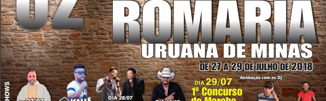 62º FESTA DE ROMARIA – URUANA DE MINAS