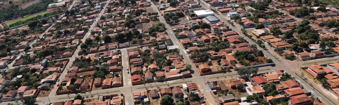 Foto aérea do município.