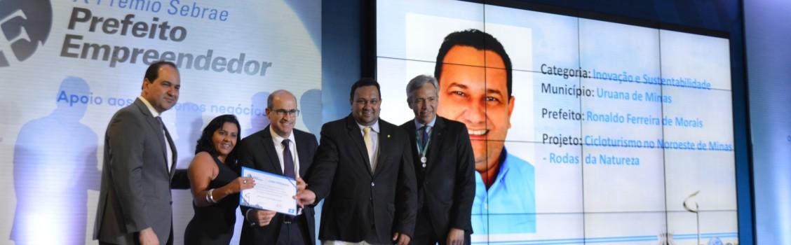 Uruana de Minas, chega a final do Prêmio Sebrae Prefeito Empreendedor.